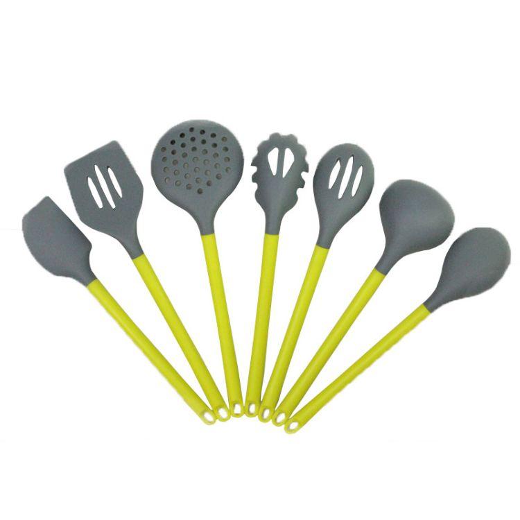 厂家直销 耐高温厨房硅胶厨具套装 硅胶勺 不粘锅硅胶铲烹饪套装