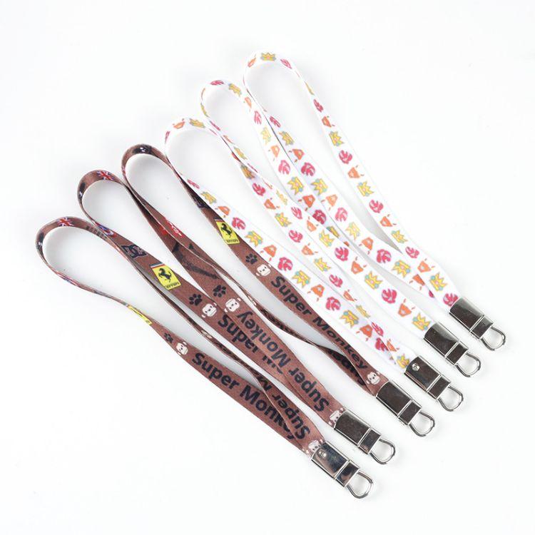 工作挂绳定制尼水杯手环学校员工手机配件挂绳吊带厂牌彩色印刷