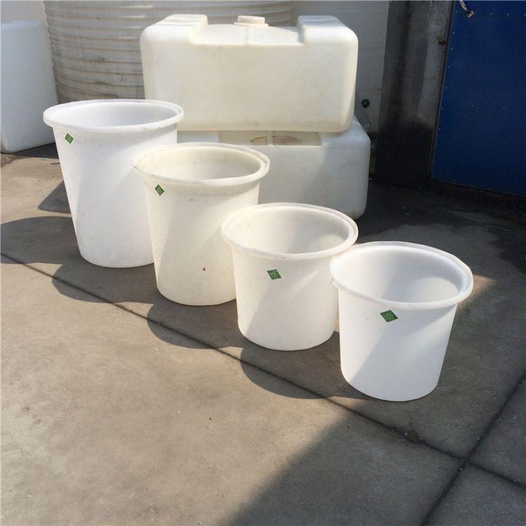 厂家直销食品150L腌制圆桶 加厚白色耐酸碱泡菜圆桶耐摔圆桶