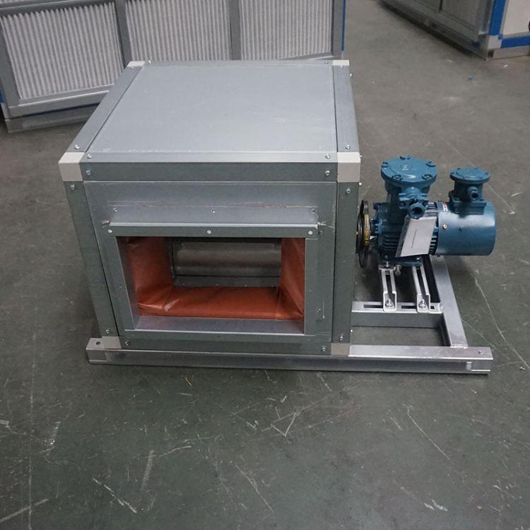 定制HTFC低噪音柜式消防排烟风机箱低噪声镀锌板离心风机箱