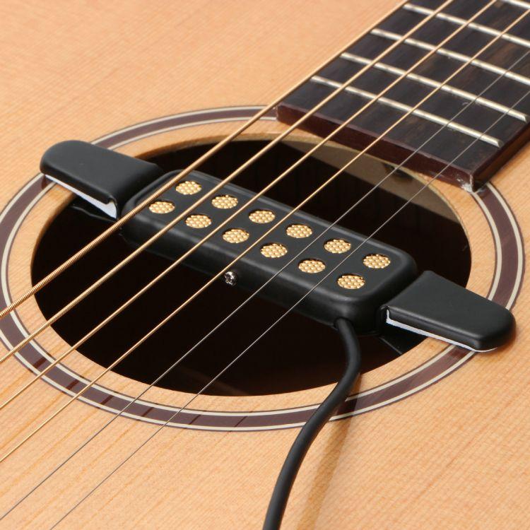 青华皇KQ-3原声木吉他拾音器 免开音孔民谣吉他拾音器乐器用配件