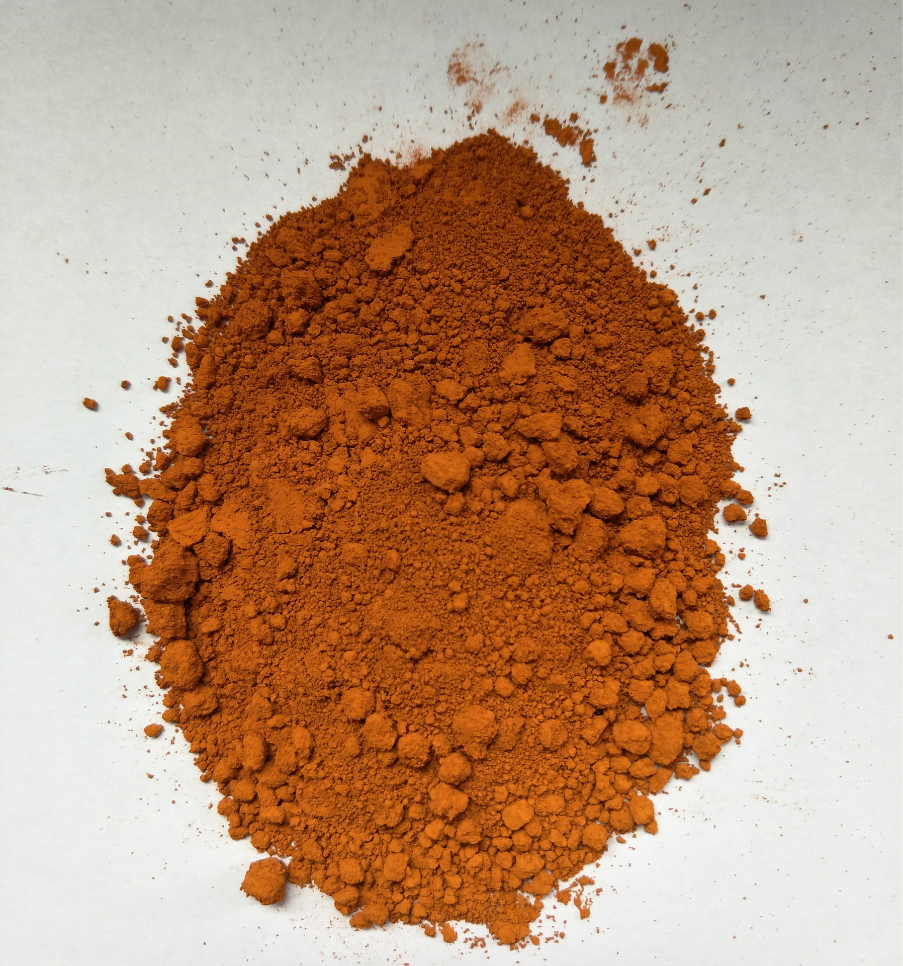 现货供应混凝土专用氧化铁橙 无机色粉氧化铁橙 彩色沥青氧化铁橙