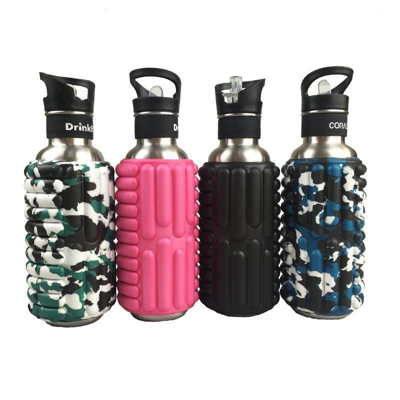 厂家直销 按摩运动水壶 eva瑜伽杯 不锈钢水壶 瑜伽便携瑜伽水壶