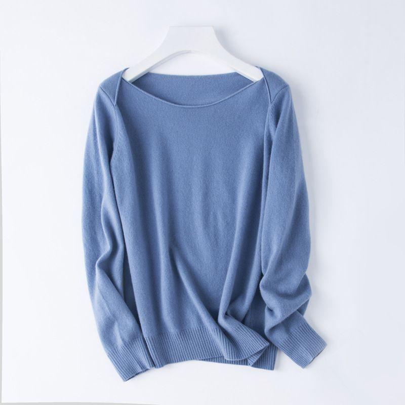 女士套头针织衫 低领羊毛衫毛衣 时尚个性打底衫上衣