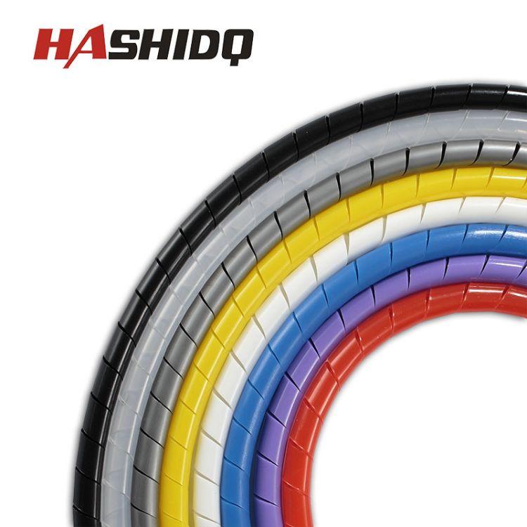 【直销】6mm黑白PE扎线缠绕管PE缠绕管厂家批发绝缘橡胶PE绕线管