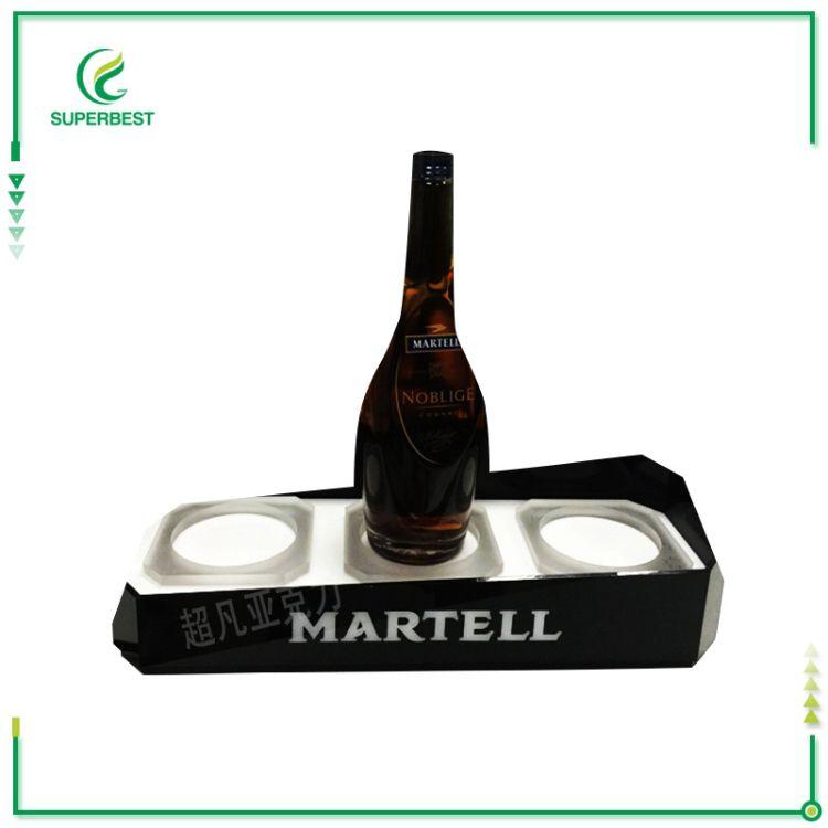 厂家按需定制亚克力酒瓶发光展示架 高档亚克力展示台陈列架