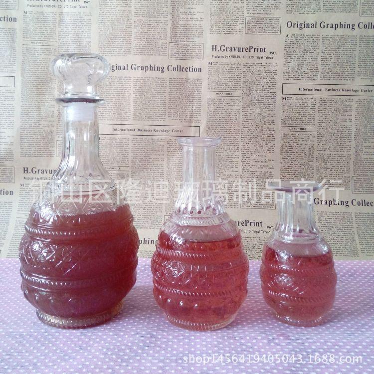 无铅宝塔红酒瓶药酒醒酒泡酒玻璃瓶自酿葡萄酒储存酒瓶佛塔密封瓶