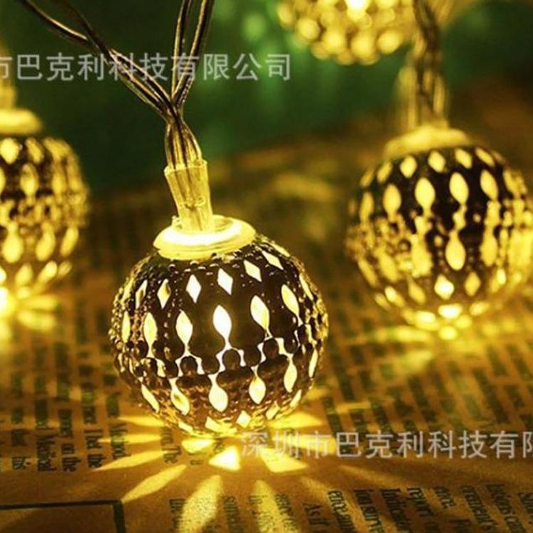 LED灯串 摩洛哥彩色圆球 ins圣诞节日生日派对庭院装饰灯派对装饰