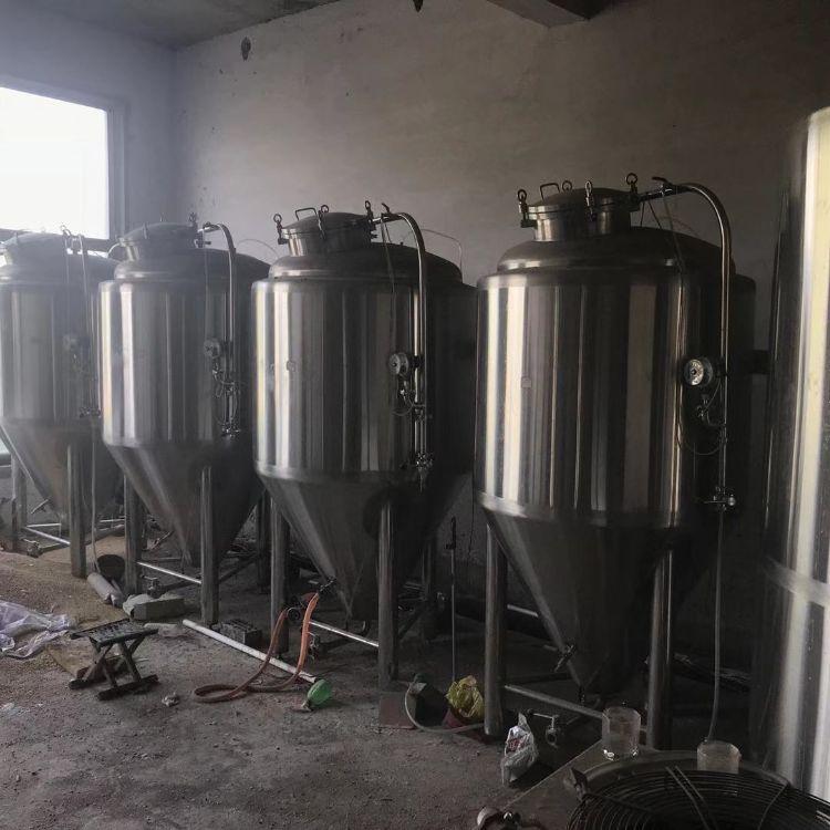 二手精酿啤酒设备 二手自酿啤酒设备 500L酒酿啤酒 啤酒发酵罐