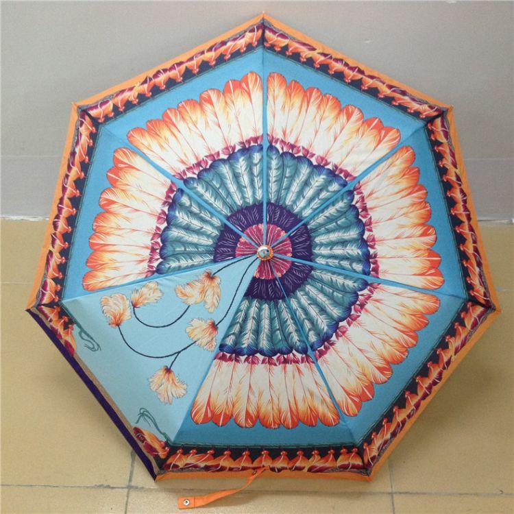 厂家直销创意精品7K杜邦认证特富龙精品雨伞 防晒晴雨伞 欧美雨伞