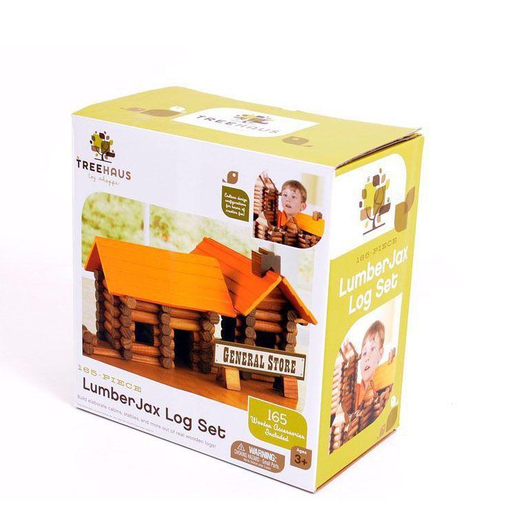165PCS 建造小木屋 林肯房原木创意建筑积木益智玩具