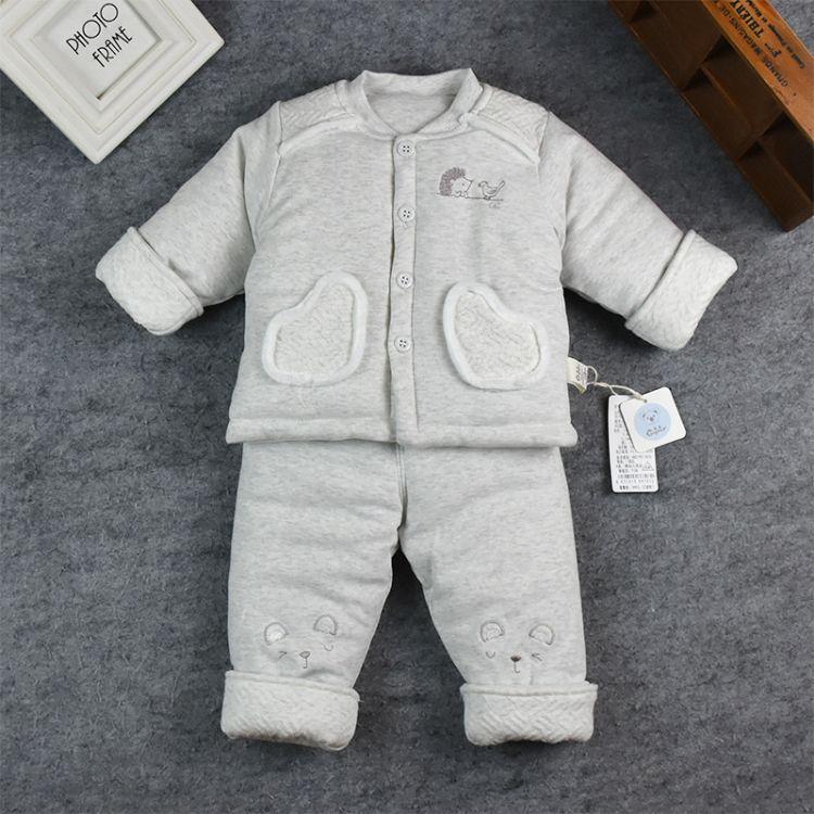 18新款 婴儿棉衣外出服 庚辰 宝宝厚棉两件套 立领 棉衣 舒绒 A类