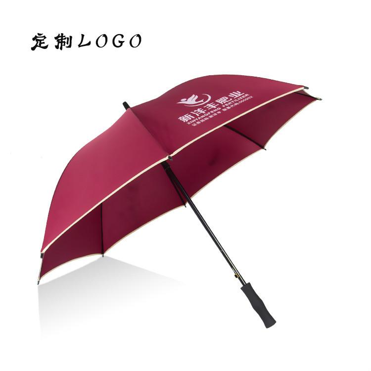 广告伞印字自动高档商务长柄伞晴雨伞定制logo学生礼品双骨坚固伞