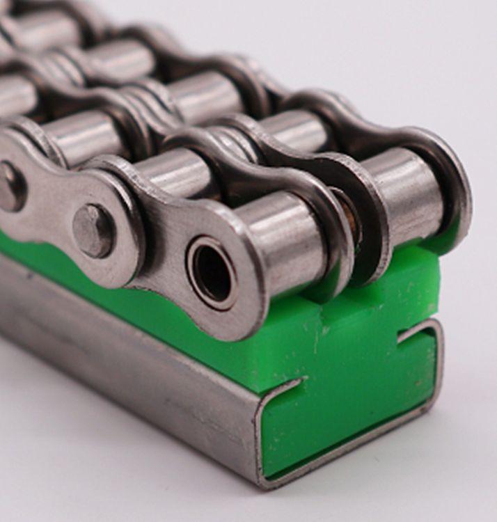 全新料 K型链条导轨 耐磨损耐腐蚀链条轨道 聚乙烯重型滚轮导轨