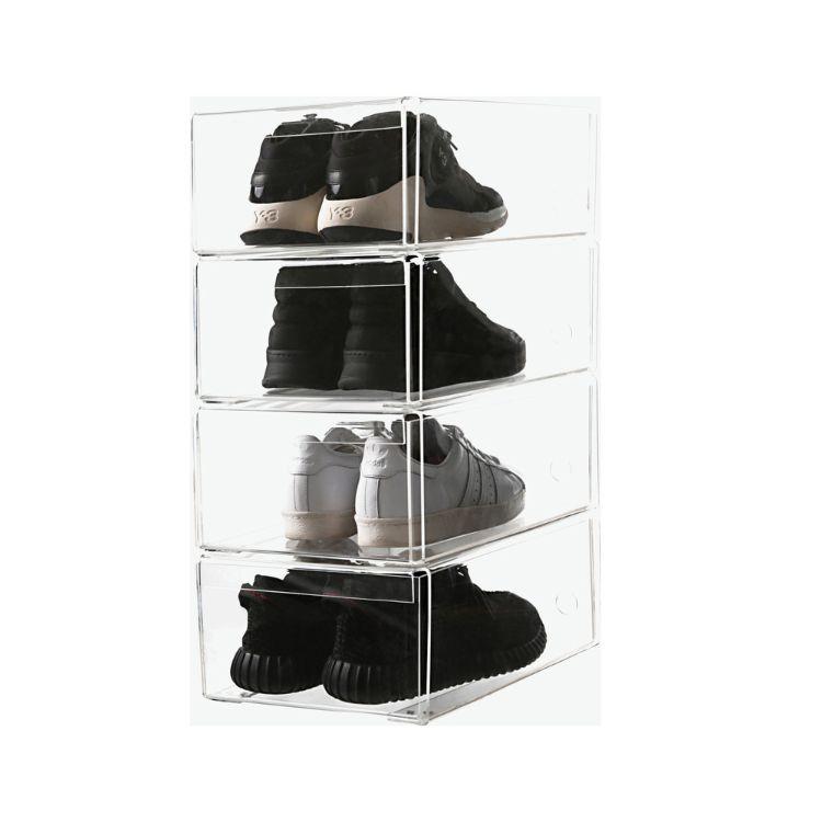 厂家加工定制亚克力盒子 透明产品展示盒 有机玻璃包装盒 鞋盒