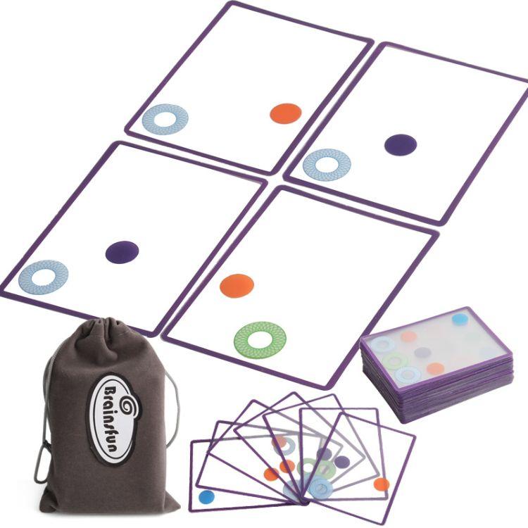 美国thinkfun叠影重重儿童益智桌面游戏swish卡牌玩具桌游谍影片
