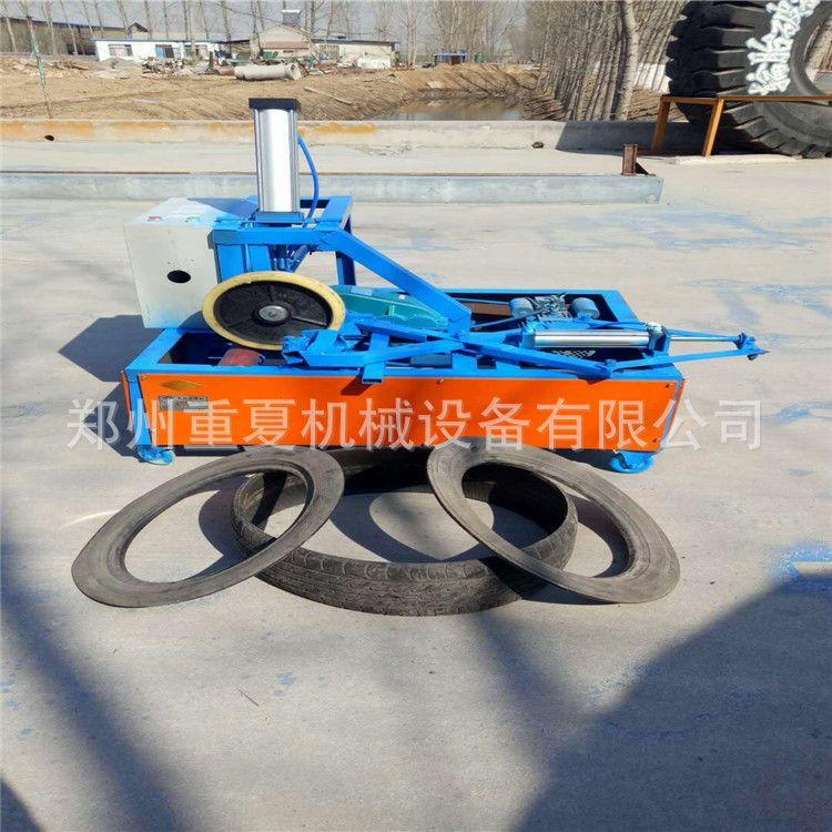 废旧轮胎割边设备 双面切边机 钢丝胎切圈机