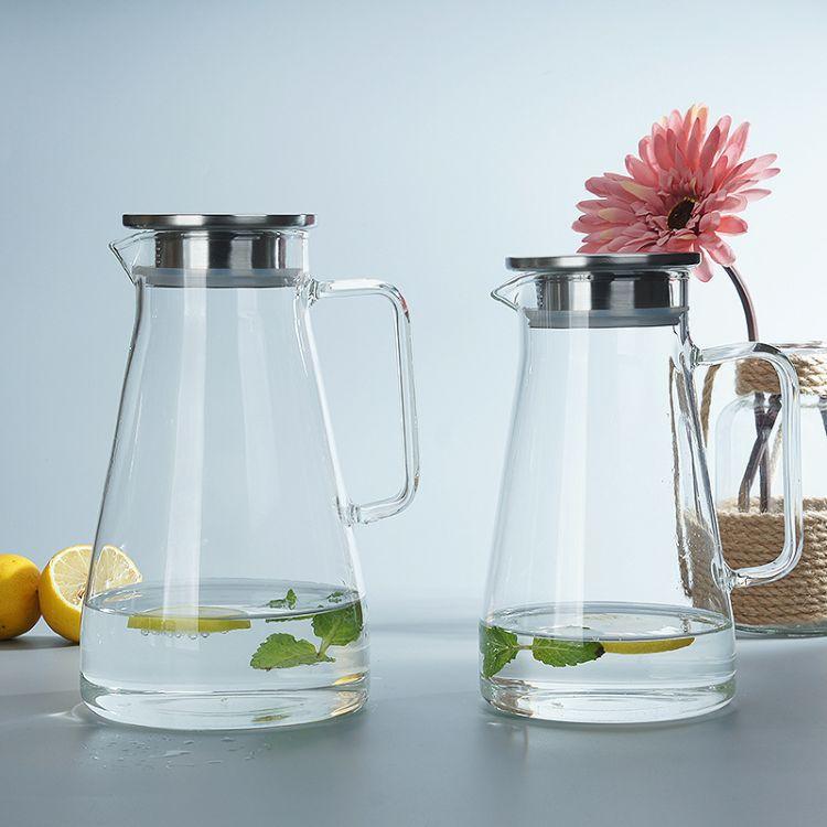 物然工厂直销玻璃凉水壶礼品套装大容量果汁冷水壶防爆玻璃壶茶壶