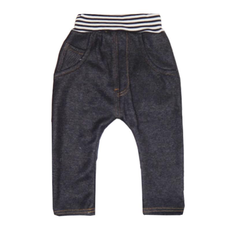 儿童仿牛仔裤 童裤冬装儿童 仿牛仔加厚垮裤加绒不倒绒长裤哈伦裤