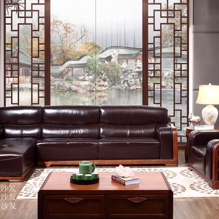 实木中式纯实木沙发免漆家居古典室内整套原木沙发订做定制