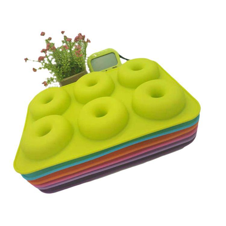 6连甜甜圈硅胶模具  烤箱烘焙工具 Diy蛋糕模 食品级厂家直销定制