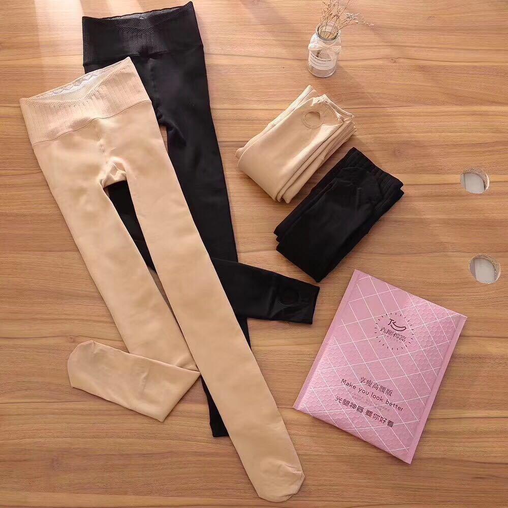 光腿神器3.0享瘦版加绒加厚高腰连裤袜日系连脚踩脚肤色打底裤女