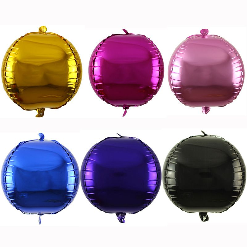 新款4D立体铝箔装饰气球生日婚礼庆典布置造型派对聚会多色氦气球