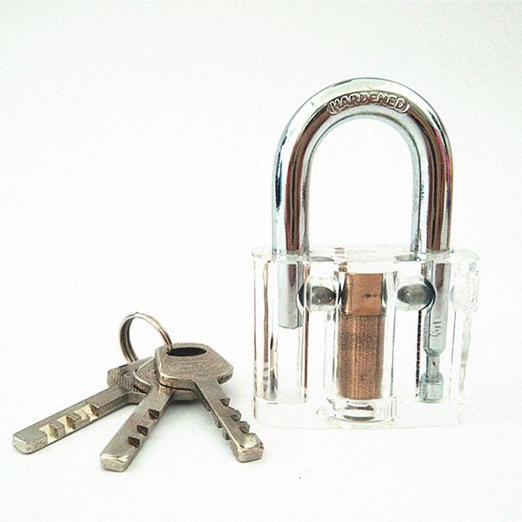 透明叶片挂锁 防水锁-防水防腐防静电 透明挂锁 锁匠锁芯用品