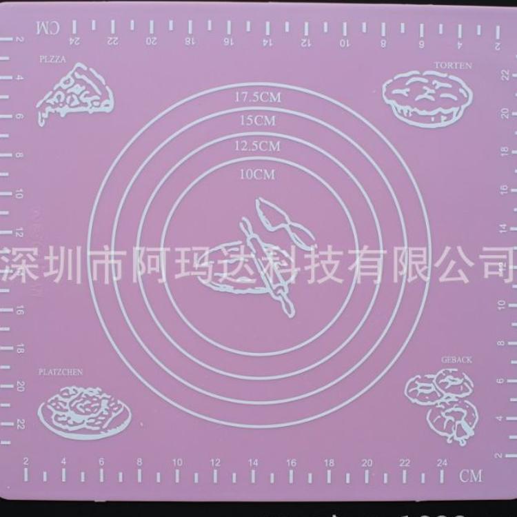29*26cm小号烘焙硅胶垫 揉面垫 烤箱垫 硅胶烘焙垫 耐高温擀面垫