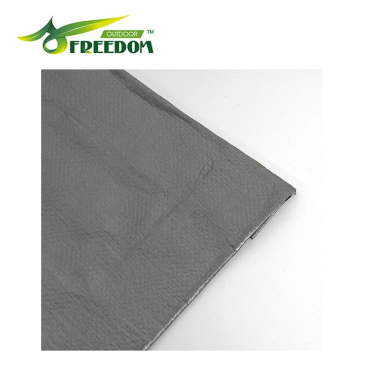 PE防水工业用塑料篷布 双面银灰色重型篷布 厂家定制塑料篷布