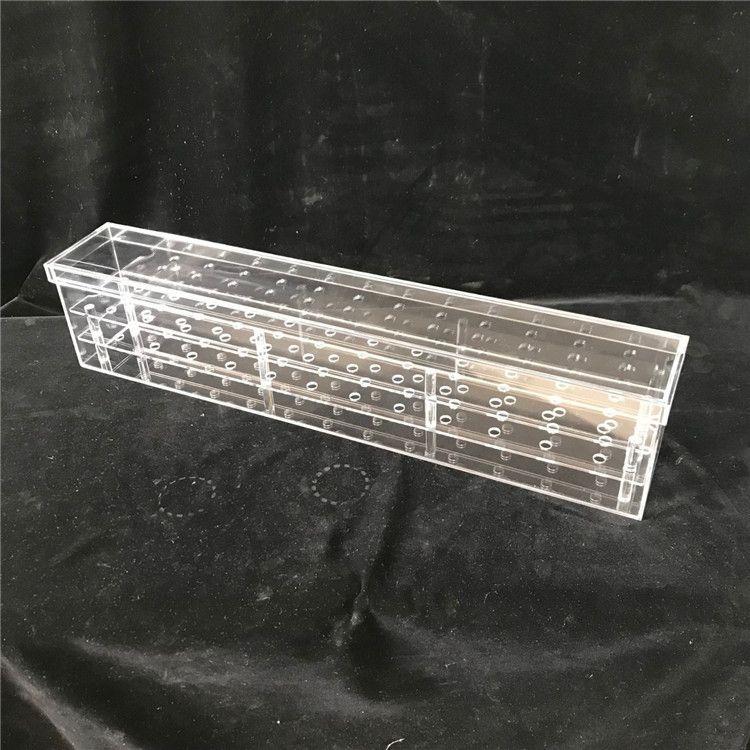 亚克力玫瑰花鲜花礼盒 透明亚克力36孔花盒子定制花艺包装礼品盒