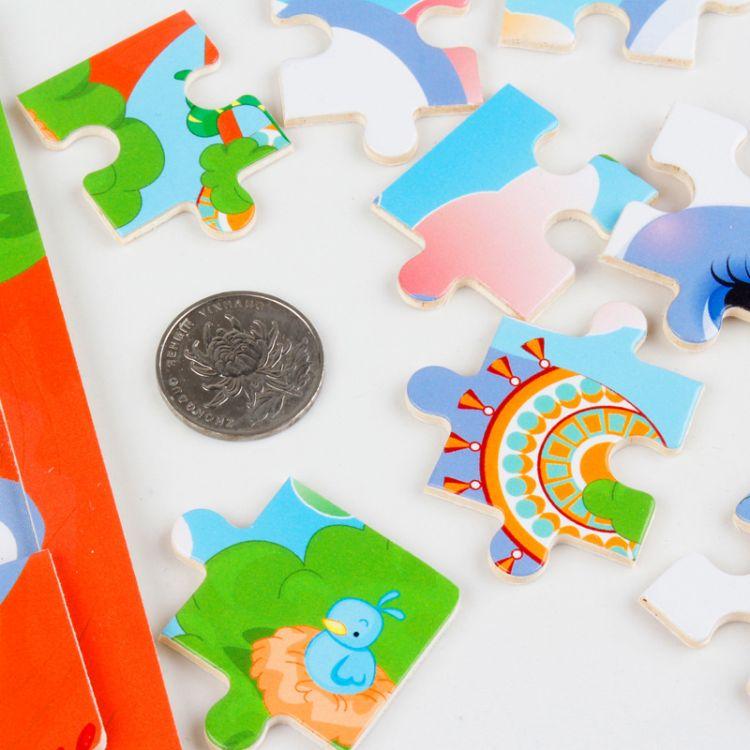 16片拼图卡通动物交通工具幼儿园木质制拼版儿童小拼图