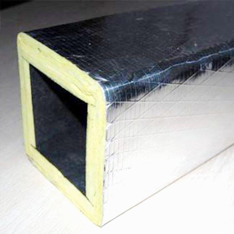双面彩钢酚醛复合风管 双层保温玻镁颗粒风管 双面铝箔玻纤风管