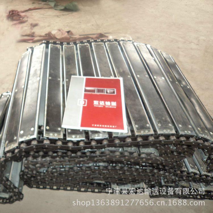 2寸散件链板 不锈钢链板 转弯链板可定制自重轻噪音低冲孔链板