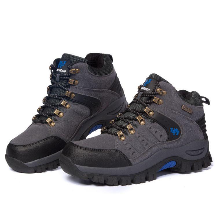 秋冬户外鞋高帮登山鞋男士越野运动鞋男女中高帮徒步鞋旅游爬山鞋