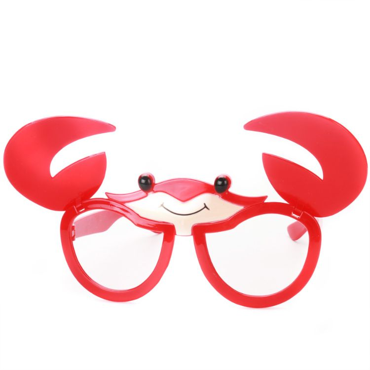 卡通螃蟹翻盖眼镜礼物个性搞怪萌物搞笑道具卖萌玩具派对聚会用品