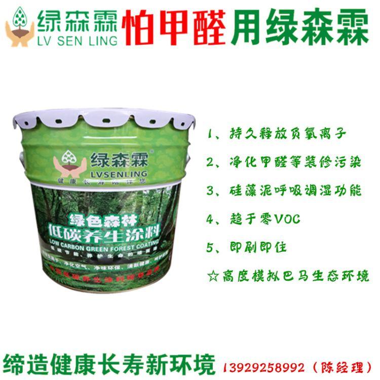 除甲醛涂料品牌用绿森霖绿色森林低碳养生涂料 负离子抗雾霾涂料