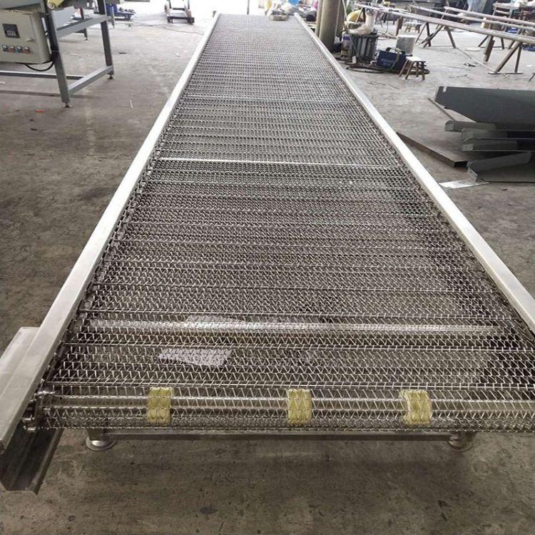 链板输送机直线304不锈钢星火 非标定制纸箱输送专用链板式输送机