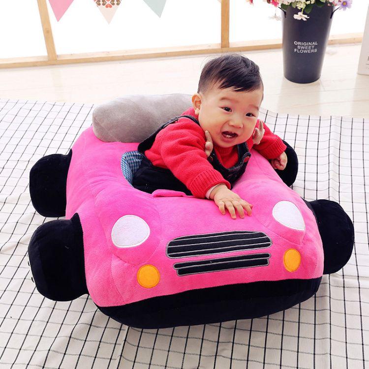 厂家直销创意小汽车宝宝学座椅毛绒玩具婴汽车沙发幼儿座椅布娃娃