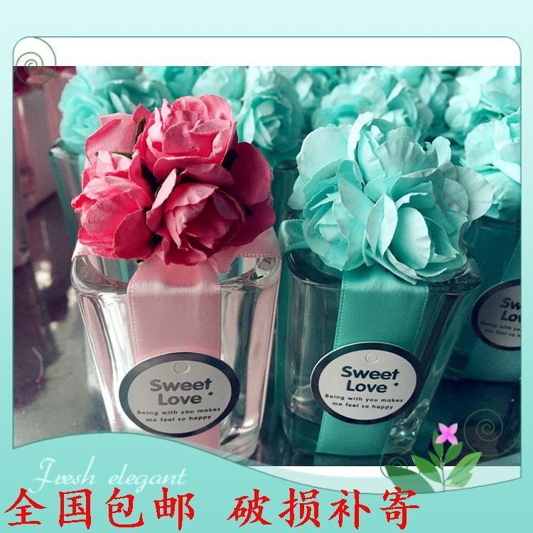 定制中式玻璃杯喜糖盒子玻璃酒杯糖盒可含糖成品发货 喜糖盒批发