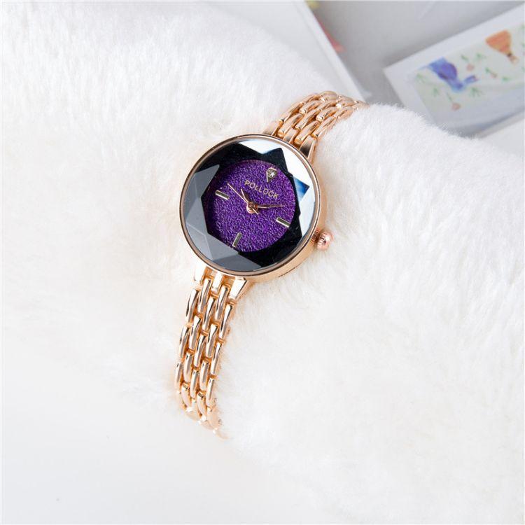 2018年女表 满钻星空面 玫瑰金流苏表带时尚潮流手链爆款女士手表