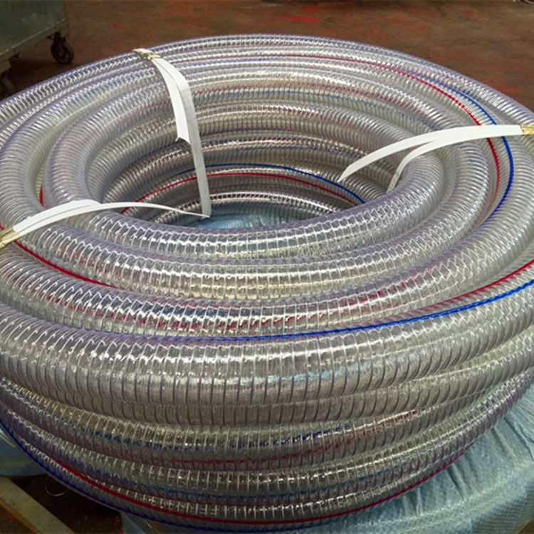 PVC软管DN159 160mm透明软管 PVC透明钢丝管 耐酸碱耐腐蚀