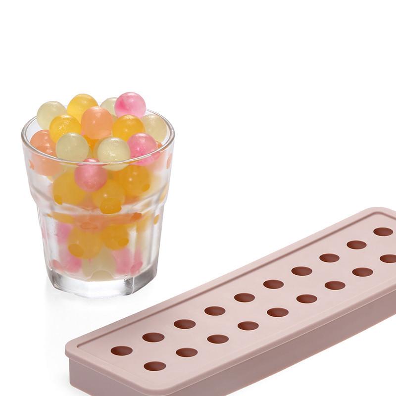 东莞硅胶制品生产厂家 20孔圆球形硅胶冰格模具 冰球冰块冰盒模具