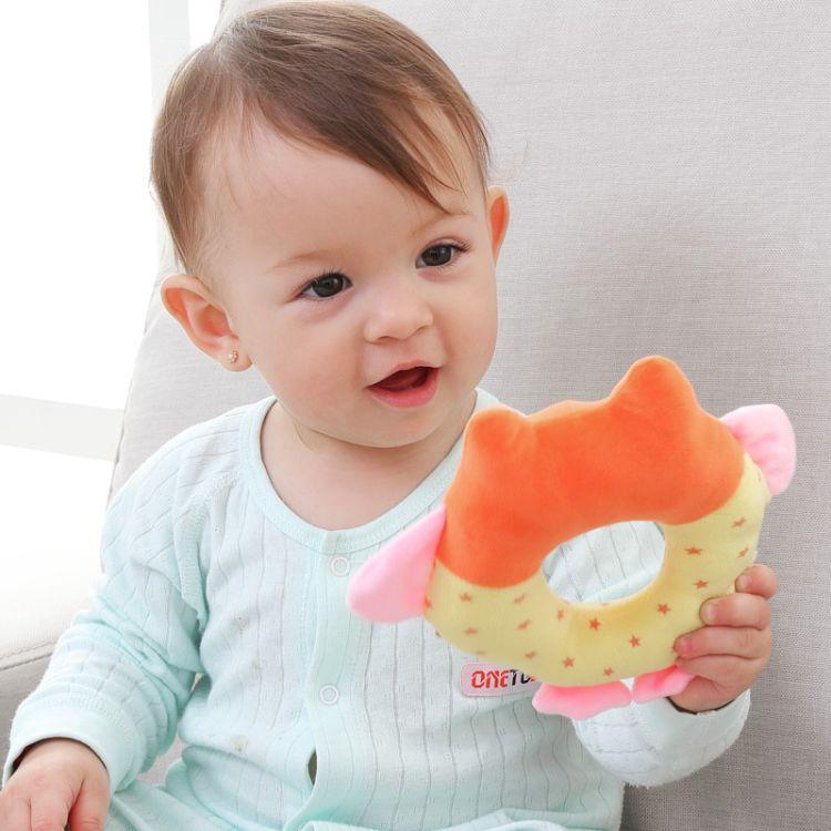 批发婴儿手抓棒  练习抓握力0-1岁宝宝益智手摇铃毛绒玩具现货