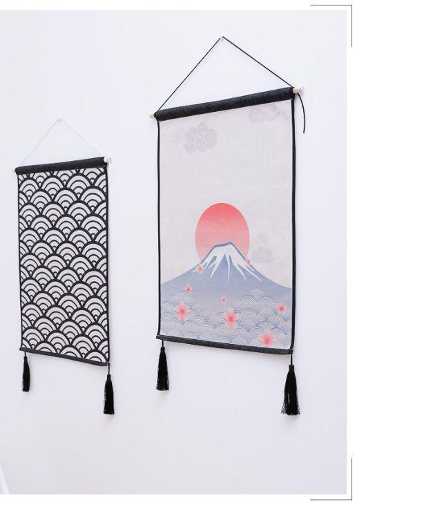 日式装饰画 办公室客厅玄关挂画无框画过道沙发背景墙壁画床头画