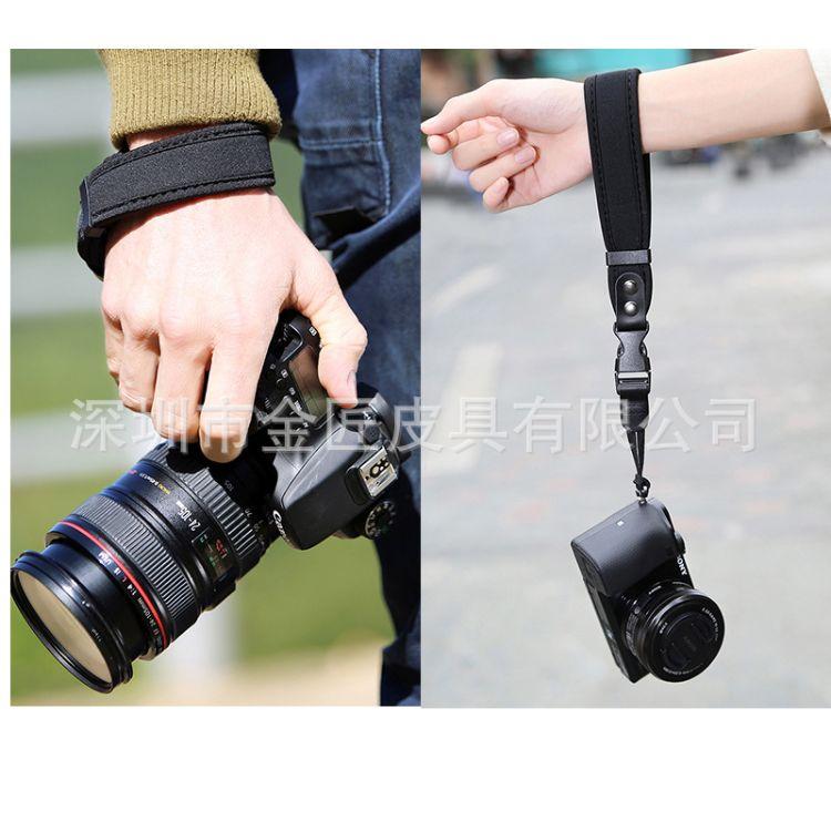 数码相机手腕带微单反通用相机手提带 潜水料可调节腕带现货供应