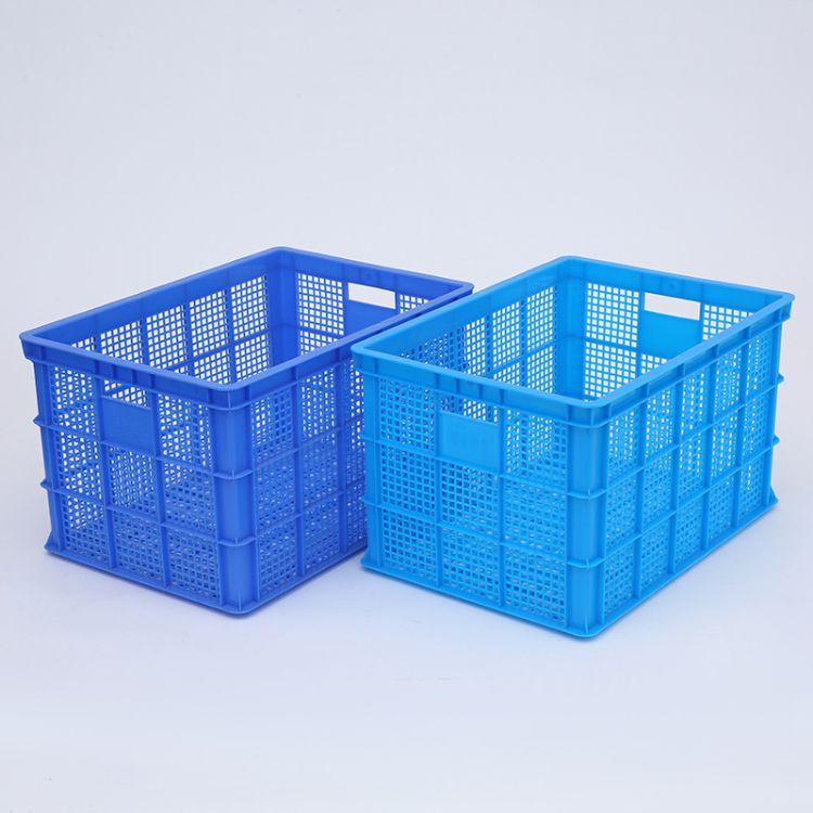 工厂批发680网格绿色蓝色物流加厚运输筐水产养殖工业塑料周转筐