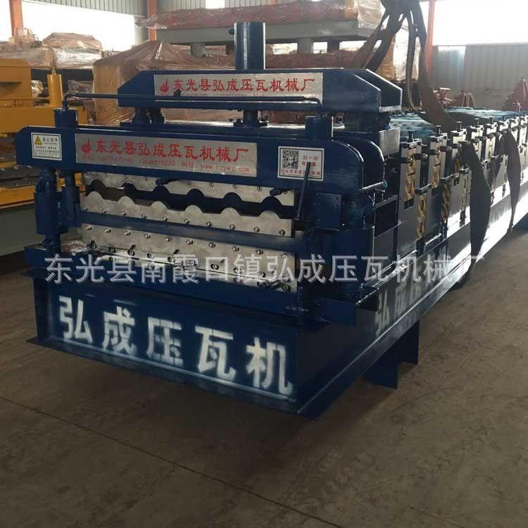 厂家订做 双层压瓦机 双层彩钢琉璃瓦机 840800双层压瓦机