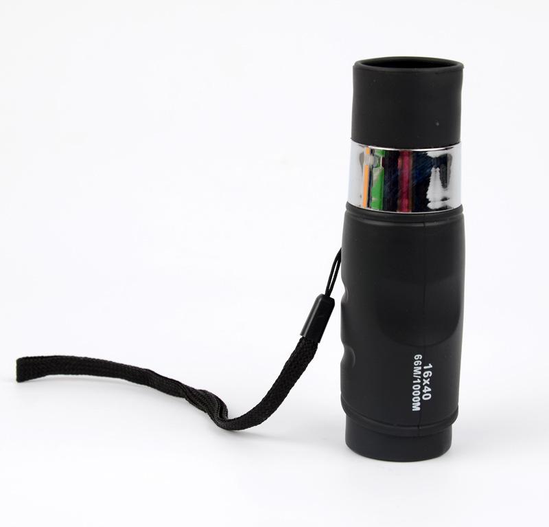 环球鹰迷你便携式户外望远镜批发16X40微光夜视非红外单筒望远镜