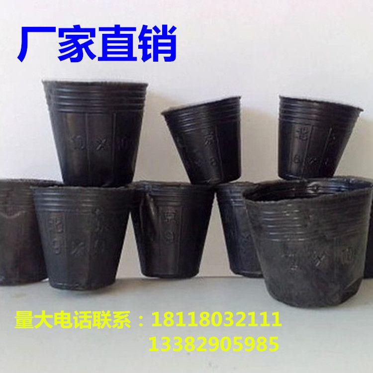 厂家直销黑色塑料 营养钵 育苗袋 营养袋 营养杯 加厚降解